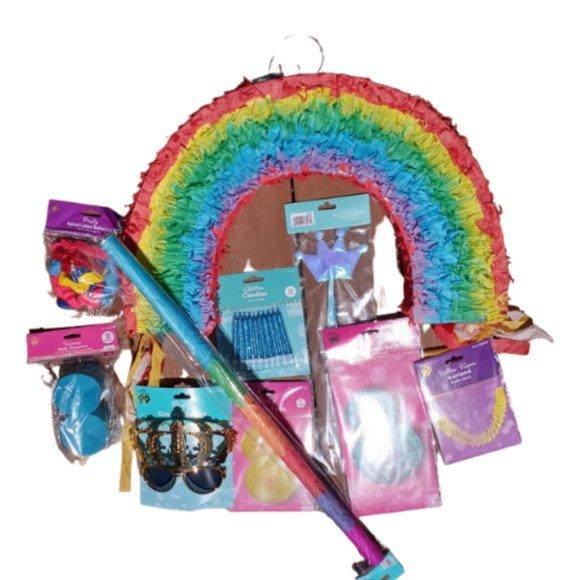 Rainbow Pinata Party Pack